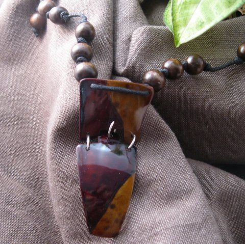 Two Tone Earthy Necklace