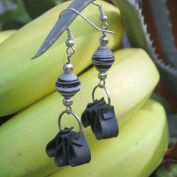 Revved Tire Earrings with Paper Bead
