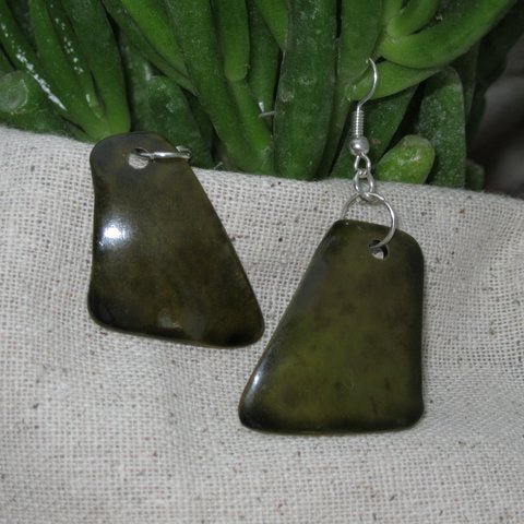 Green Calabash Egyptian Earrings