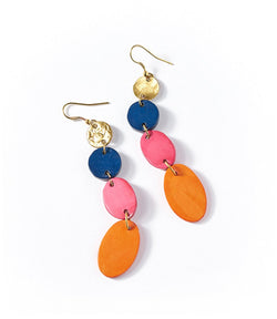 Ria Earrings - Multi Drop