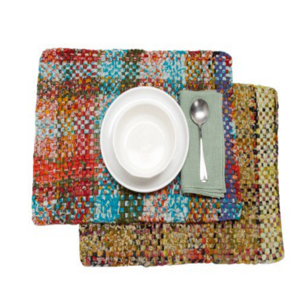 Recycled Woven Sari Placemat