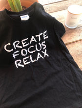 Load image into Gallery viewer, Create Focus Relax  ( Youth ) T-shirt