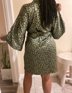 Leopard Printed Lounge Robes
