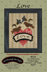 Love February Pre-Printed Panel