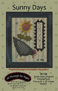 Sunny Days August Preprinted Panel