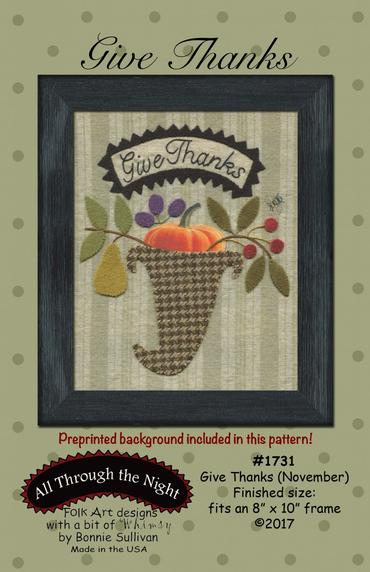 Give Thanks November Preprinted Panel BOM