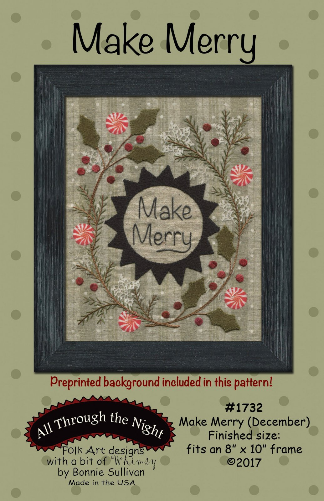 Make Merry December Preprinted Panel BOM