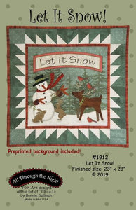 Let It Snow Preprinted Panel