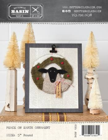 Peace on Earth Sheep Ornament