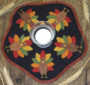 Turkey Candle Mat