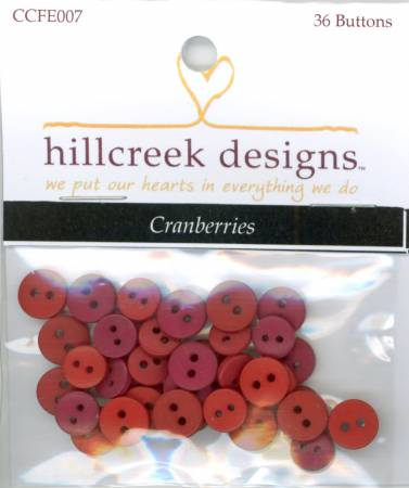 Cranberry Color Buttons