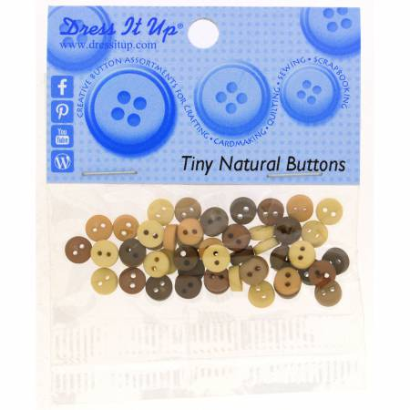 Tiny Natural Buttons
