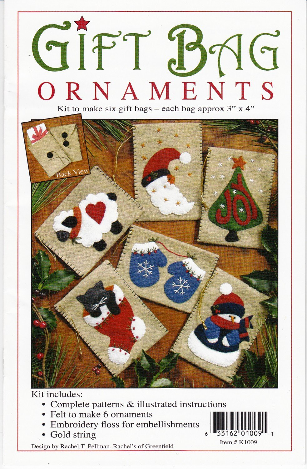 Gift Bag Ornament Kit