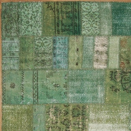 Vintage Oushak Over-Dyed (Patchwork- Green)