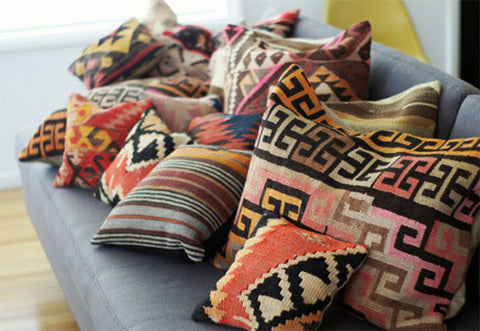 Reclaimed Kilim Throw Pillows