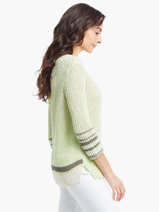 magnolia stripe sweater-s21-1124
