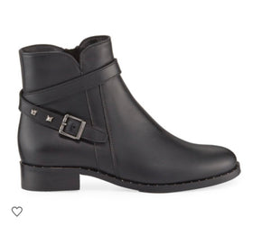 blk leather boot