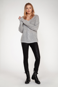 cable knit vneck-1627046