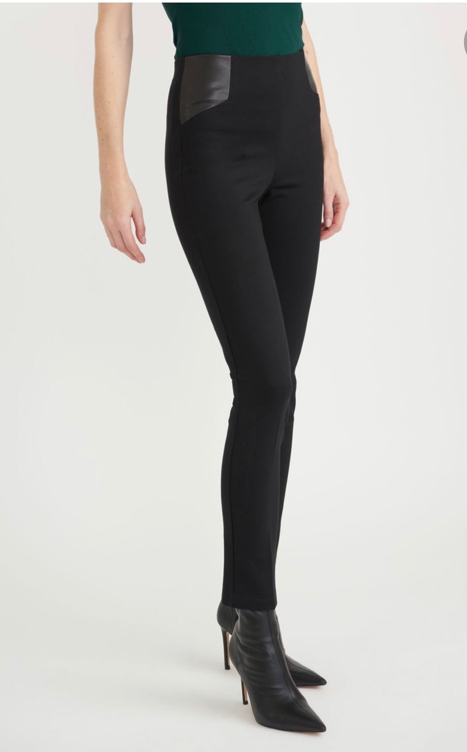 Leather top slim pant - 203677