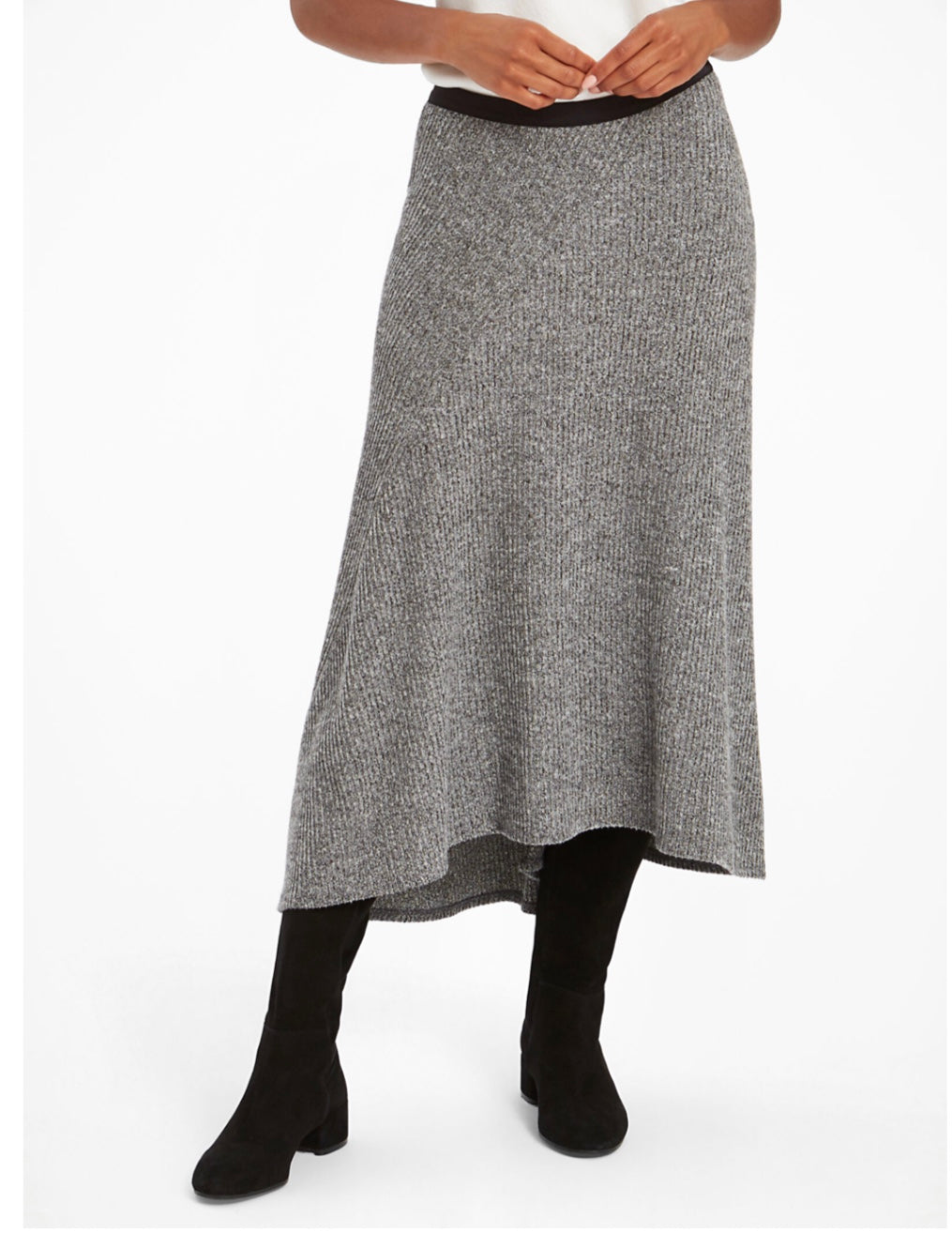 cozy aside lg knit skirt-F20-1312