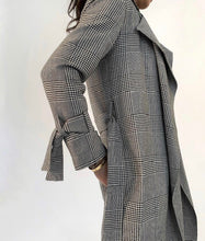 Periphery plaid 3/4 wrap trench coat transitional weight - EP1031