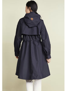 rain tech long hi low coat w/hood oversz - Gabi