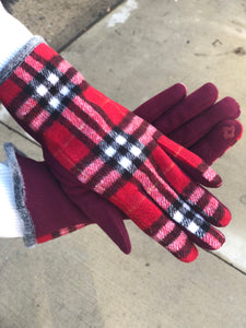 plaid txt glove-pldglv