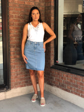 Denim pencil skirt by Mavi