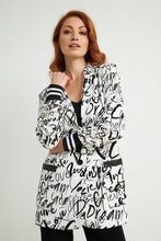 Graffiti print blazer with stripe knit cuff - 211152