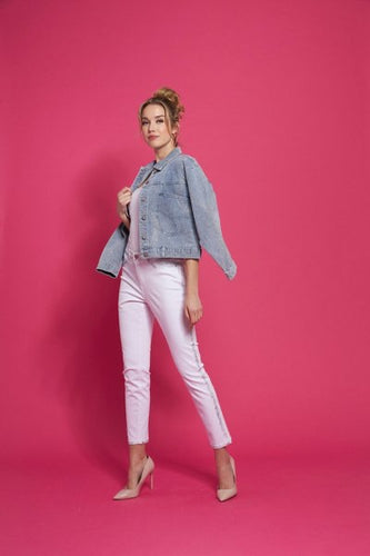 white jean with silver side stripe detailing-212908