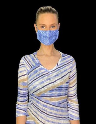 Pleated cotton sateen mask