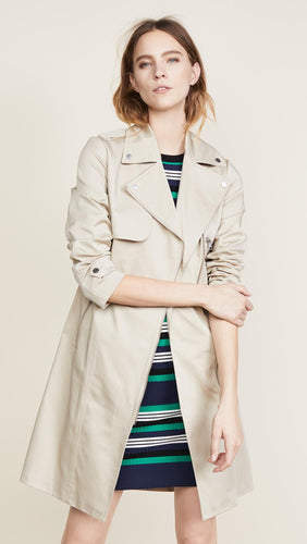Sateen stretch trench coat by Soia & Kyo 3/4 - water repellent  -athena