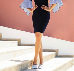 pencil skirt (avail black or navy)