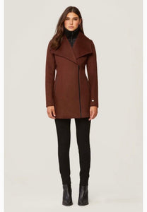 Soia & Kyo wool zip jacket with removable inset collar   Maeva