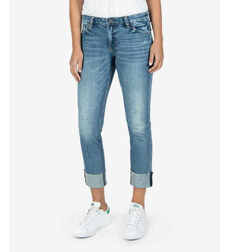 Catherine boyfriend cuffed jean beauties wash