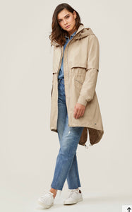 long anorak detachable liner - Justina