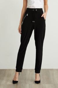 Jersey drawstring pant with zip pockets - 211317