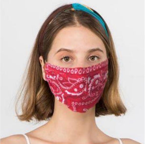 cotton fashion masks- non medical, unisex adjustable straps