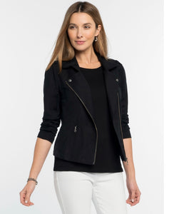 linen biker jacket (avail in white or black)