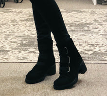 3 strap boot-Indie -available in patent or suede
