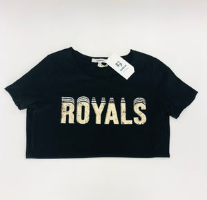 Black/gold logo tee