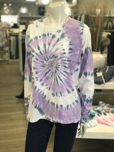 long sleeve tie dye pocket tee-LA299