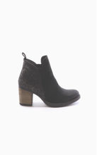 suede leop prt bootie-Belfield (available in blk/gry and whiskey/camel)