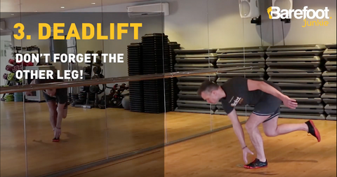 Five Exercises to strengthen your feet - 3. Deadlift