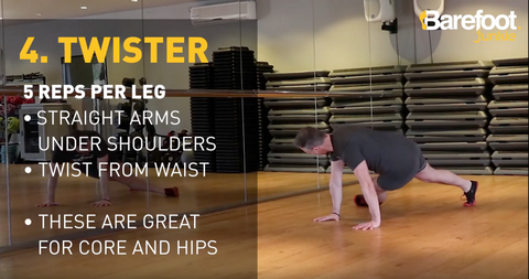 Five Exercises to strengthen your feet - 4. Twister