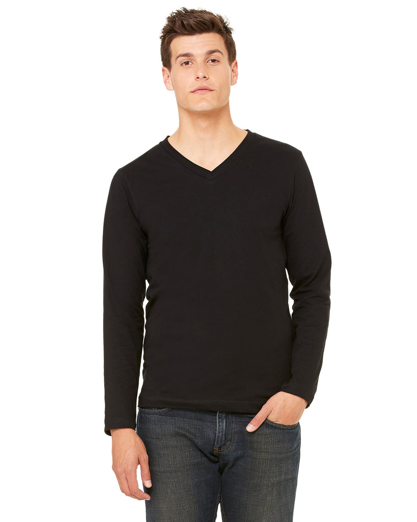 Bella Unisex V-Neck  Long-Sleeve T-Shirt