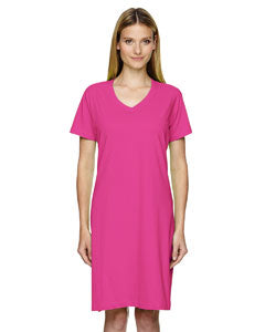Ladies' V-Neck T-Shirt Dress