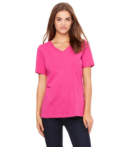 Bella Ladies' Relaxed Jersey Short-Sleeve V-Neck