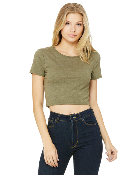 Bella Ladies' Poly-Cotton Crop T-Shirt