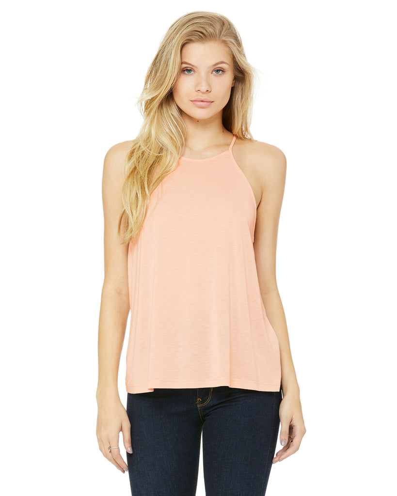 Bella Ladies' Flowy High Neck Tank